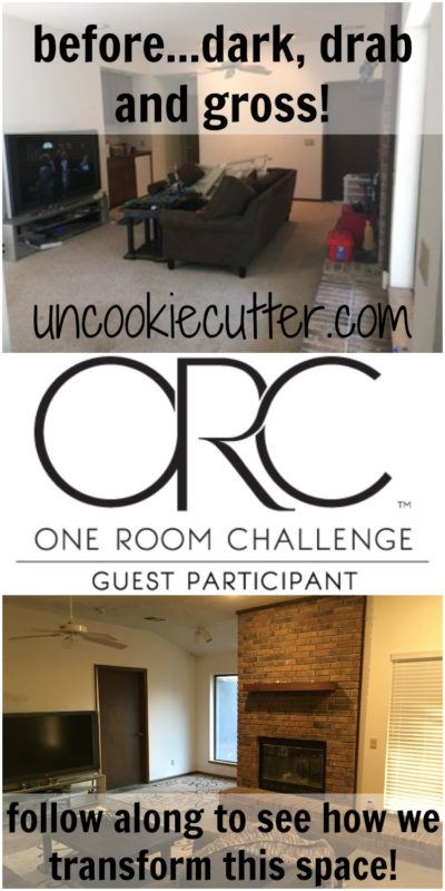 For the One Room Challenge this go around, I've decided to finish the kids rec room and I'm so excited about all the DIY projects in this space! UncookieCutter.com