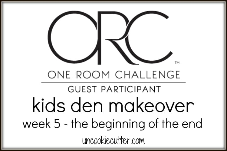 We are redoing our kids den for the One Room Challenge, and it is going to be a fun and functional space! UncookieCutter.com