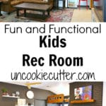I've got all the details of our kids playroom / rec room makeover! From toy storage to the built in loft bed, our children love it! Ideas will transform to a fun teen hangout.