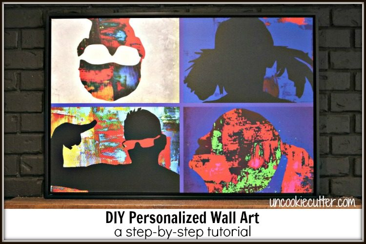 Step by step tutorial on how to create your own family photo personalized wall art