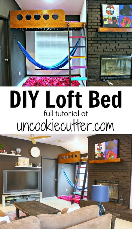 If you've been looking around at loft beds for kids and are having trouble finding the perfect thing, why not build your own? Details on how I built my kids a loft bed at UncookieCutter.com!