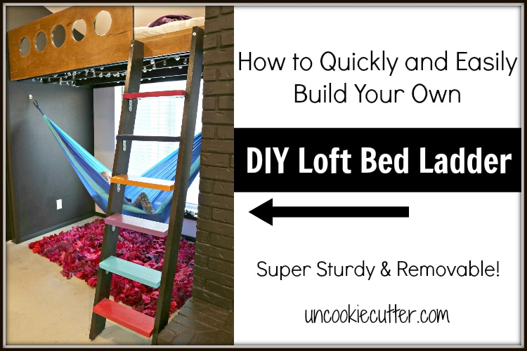 I built some loft stairs for the kids new bed and once I figured it out, they were super easy.  Get the full tutorial here!