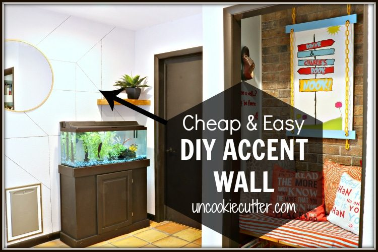 I created this quick and easy accent wall to add a little interest to this boring