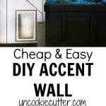 How to quickly and easily add a cheap accent wall without wallpaper that works anywhere from the bedroom to the kitchen. Super quick, 30 min upgrade.