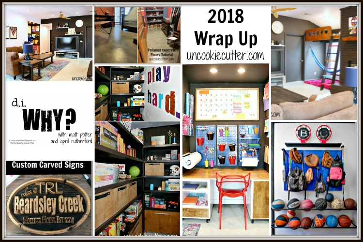I'm closing up 2018 on the blog and discussing what is coming this year in my 2018 wrap up. I'm excited for new things brewing! UncookieCutter.com