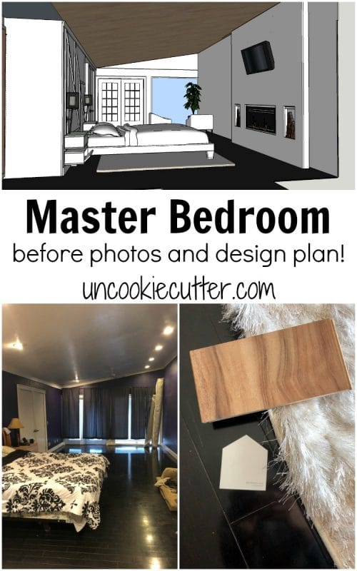 I'm excited to share our master bedroom design plan and the rooms that inspired me. Plus, take a peek at what it looks like now (it's soooo bad...)!