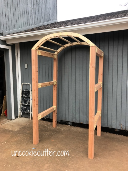 I made a simple garden arch and I've got an easy step by step tutorial on how to build your own.
