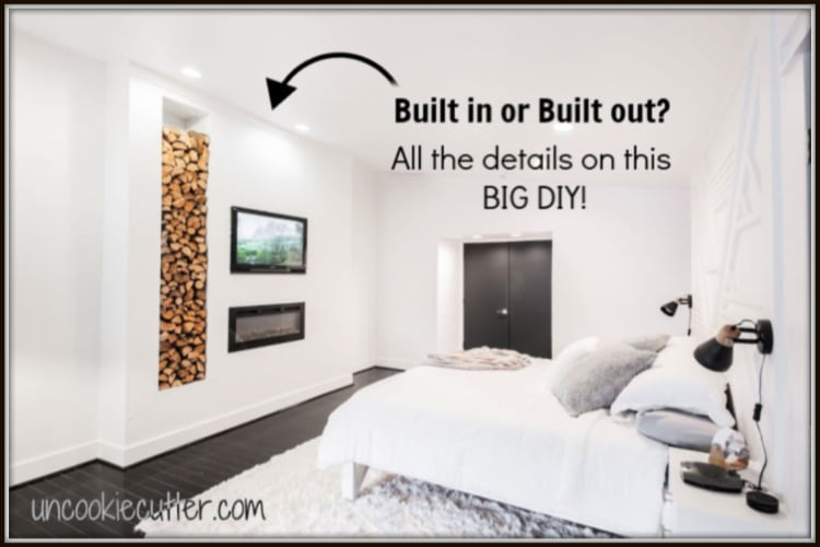 Built In Or Built Out? Fireplace Wall Tutorial