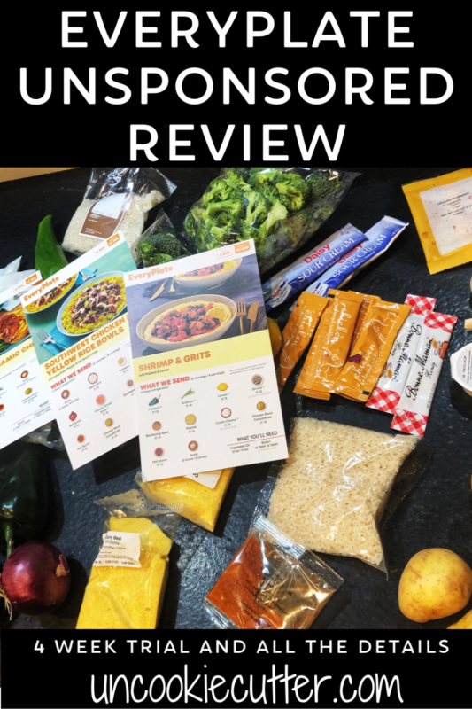 I'm trying out a different meal plan each month to let you know what I think. First up is EveryPlate, an unsponsored review- stop by to get all my thoughts!