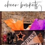 These cheer buckets are perfect starter project for your Cricut Explorer. I made them super quick and easy and they are perfect little gift bags!