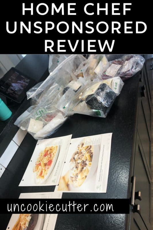 I'm comparing different meal delivery services and sharing my unsponsored opinion at uncookiecutter.com! The meal plan for this month was Home Chef!